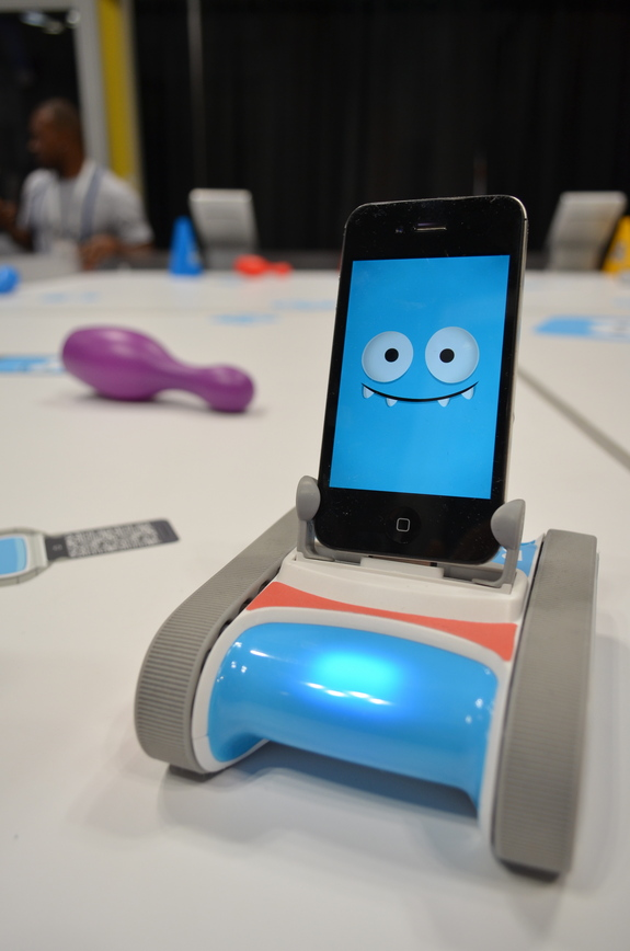 This iPhone robot named Romo combines cool tech with a great robotic personality.
