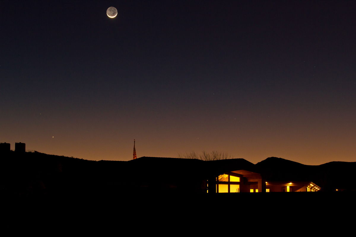 Moon and Mercury Seen Over Henderson, NV