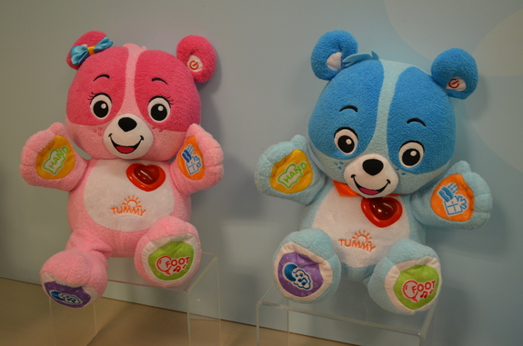 These talking bears named Cody and Cora can learn kids' names and birthdays, and be updated as kids grow.