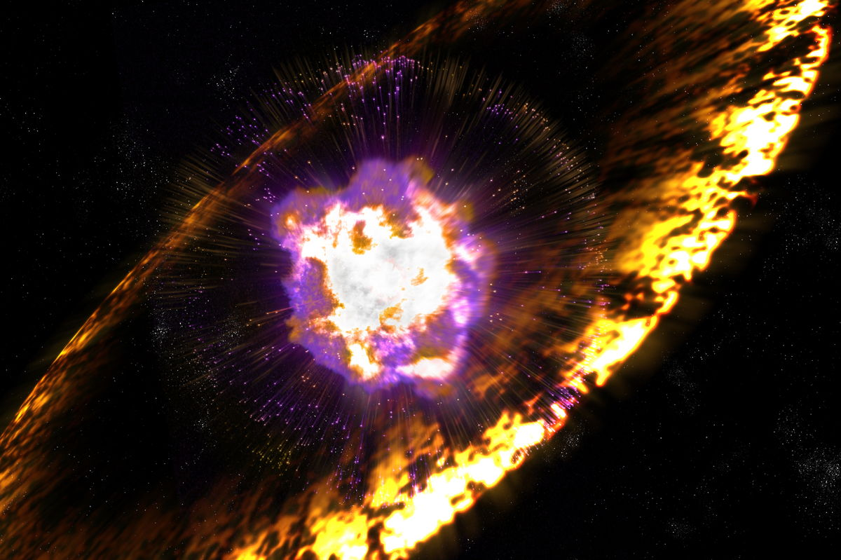 Artist's Illustration of a Supernova Explosion