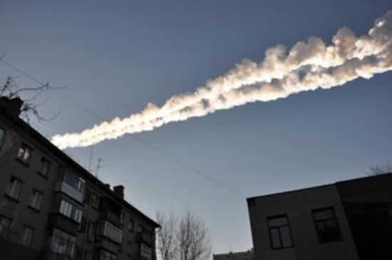 Meteor Trail Over Russia: Feb. 15, 2013