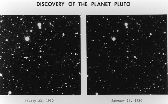 Original plates from Clyde Tombaugh's discovery of Pluto in Lowell Observatory Archive.