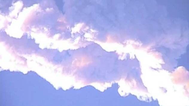 Russian Meteor Smoke Trail