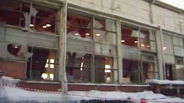Broken Windows Caused by Russian Meteor