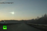 This video screenshot shows the fireball from a meteor that exploded over Chelyabinsk, Russia, on Feb. 15, 2013, creating a shockwave that shattered windows and injured more than 1,000 people.