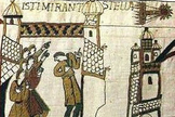 This portion of the Bayeux Tapestry shows Halley's Comet during its appearance in 1066.