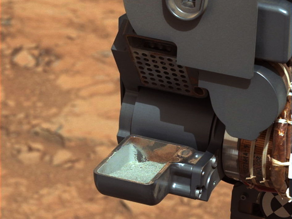 NASA's Curiosity Rover Eats 1st Mars Rock Sample