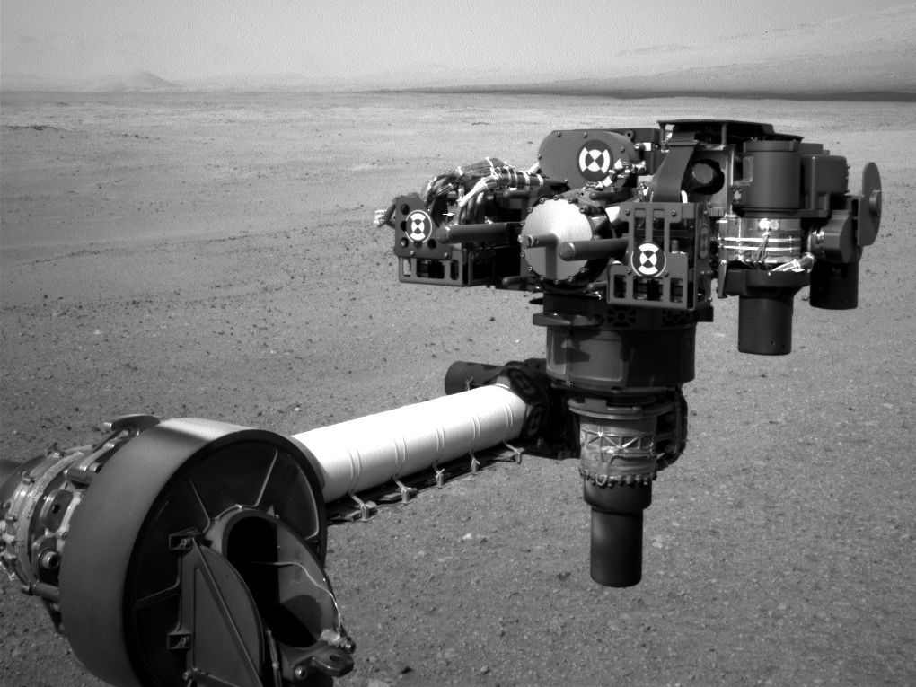 End of Curiosity's Extended Arm, Full-Resolution