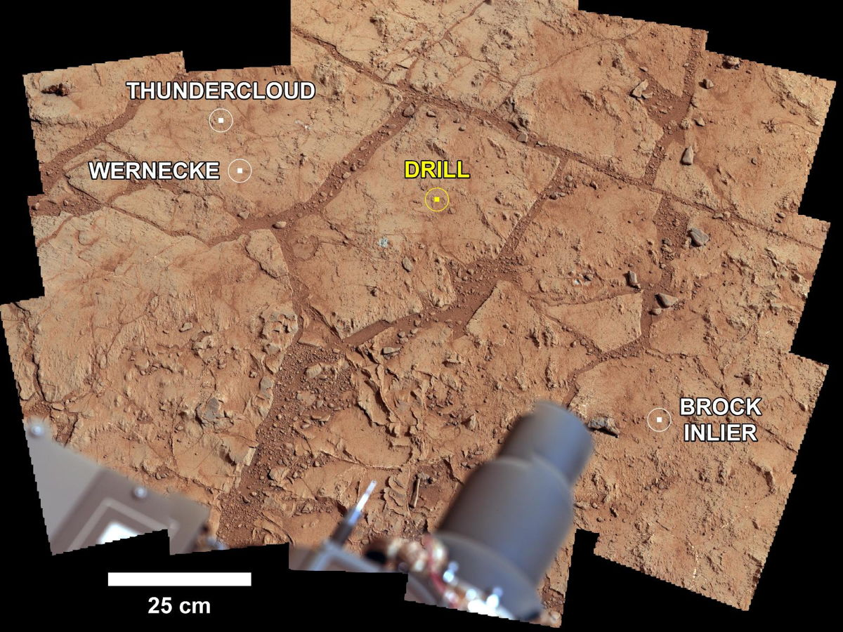 Investigating Curiosity's Drill Area