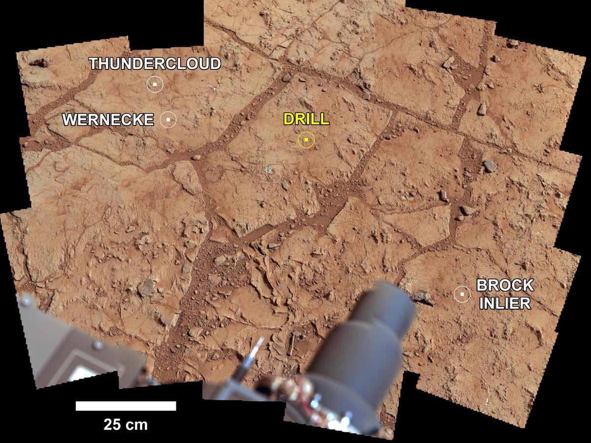 Investigating Curiosity's Drill Area