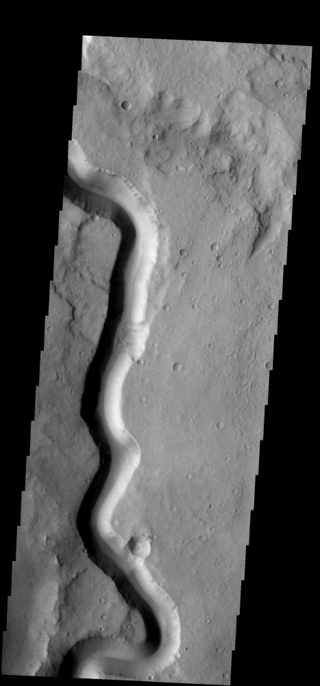 Channels Crossing the Surface of Mars