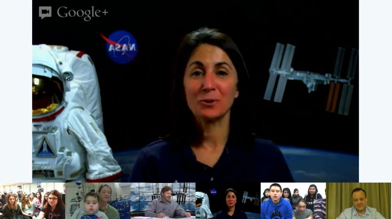 Astronaut Nicole Stott Addresses NASA's Google+ Hangout