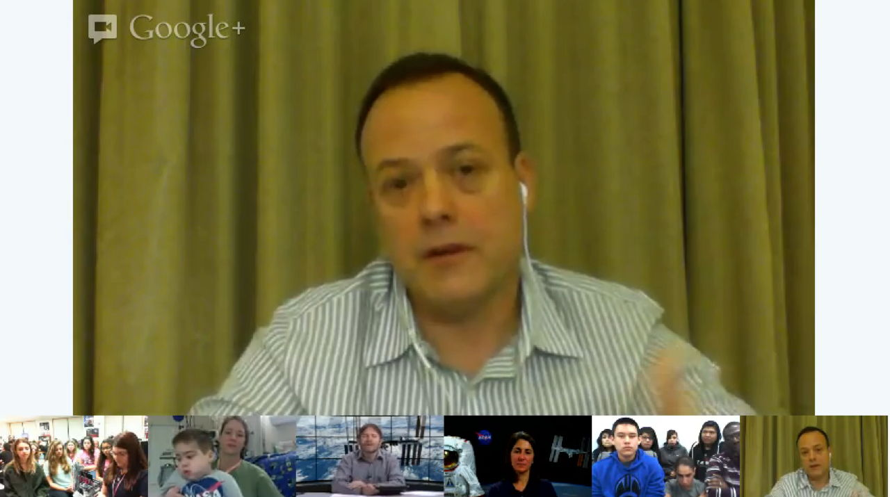 Astronaut Ron Garan Addresses NASA's Google+ Hangout