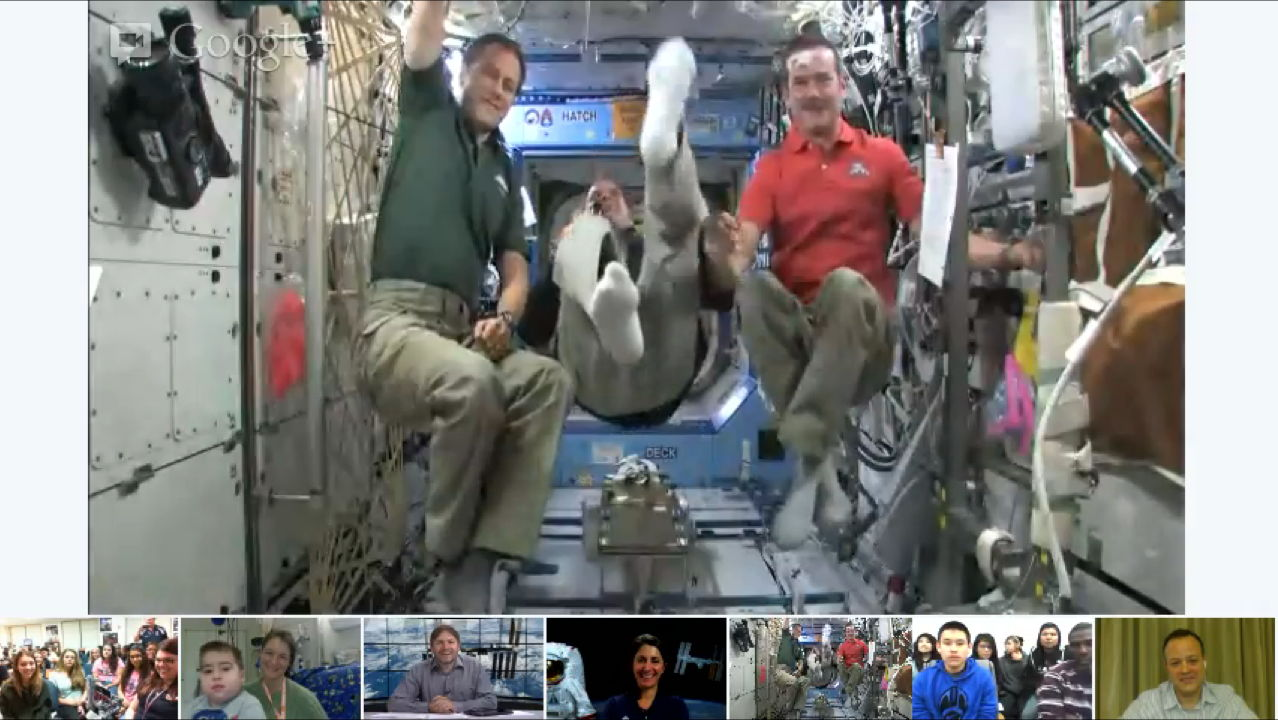 ISS Astronauts Participate in NASA's Google+ Hangout