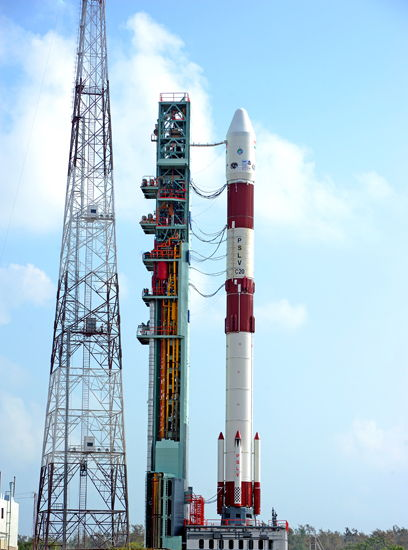 India's PSLV-C20 Rocket on Launch Pad