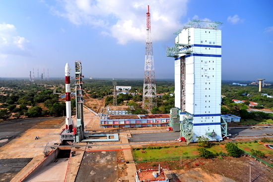 Panoramic View of India's PSLV-C20 Rocket