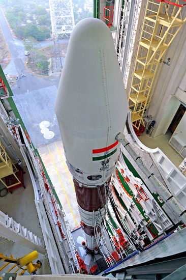Complete PSLV-C20 Rocket Seen From High Angle