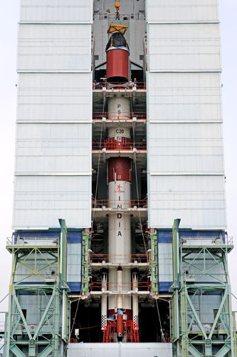 India's PSLV-C20 Rocket Fourth Stage Integration