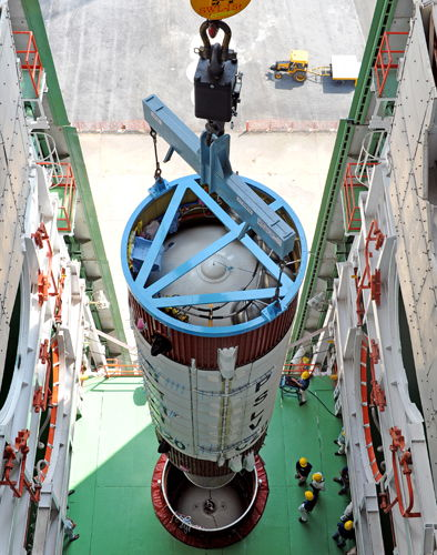 India's PSLV-C20 Rocket Second Stage Integration