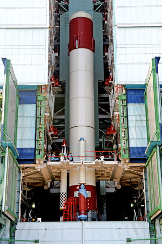 India's PSLV-C20 Rocket First Stage Assembly