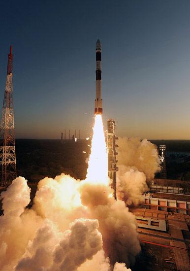 India's PSLV-C20 Rocket Takeoff #3