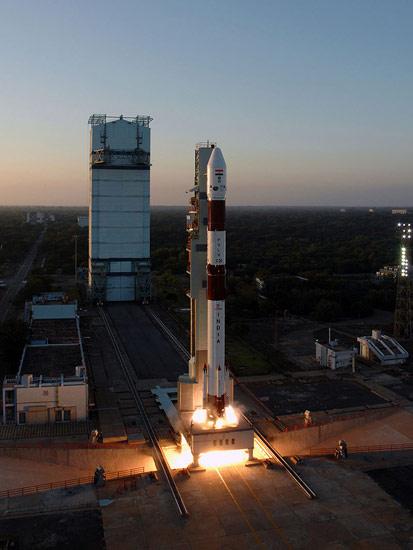 India's PSLV-C20 Rocket Takeoff #1