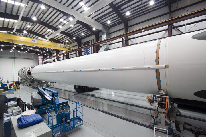 Inside the SpaceX Falcon Hangar