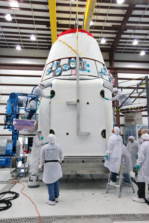SpaceX Falcon 9 Rocket Payload Fairing