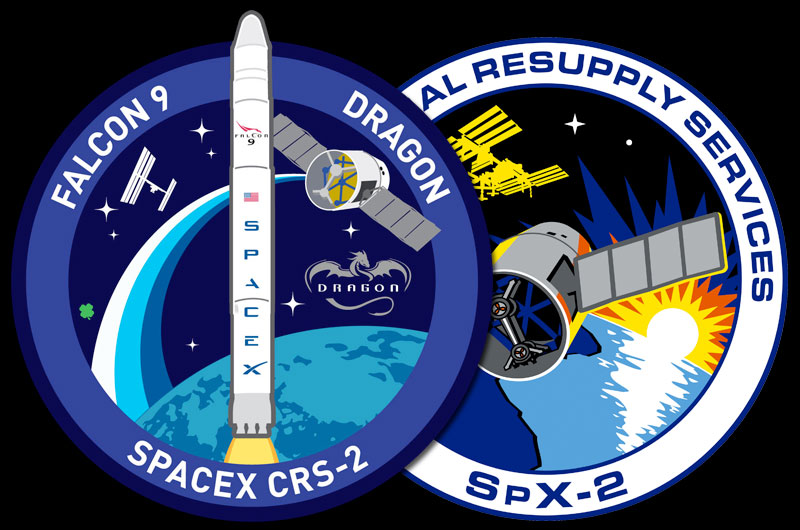 SpaceX and NASA Mission Patches