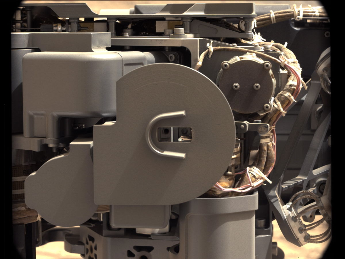 Check-up Image After Delivering Martian Rock Powder