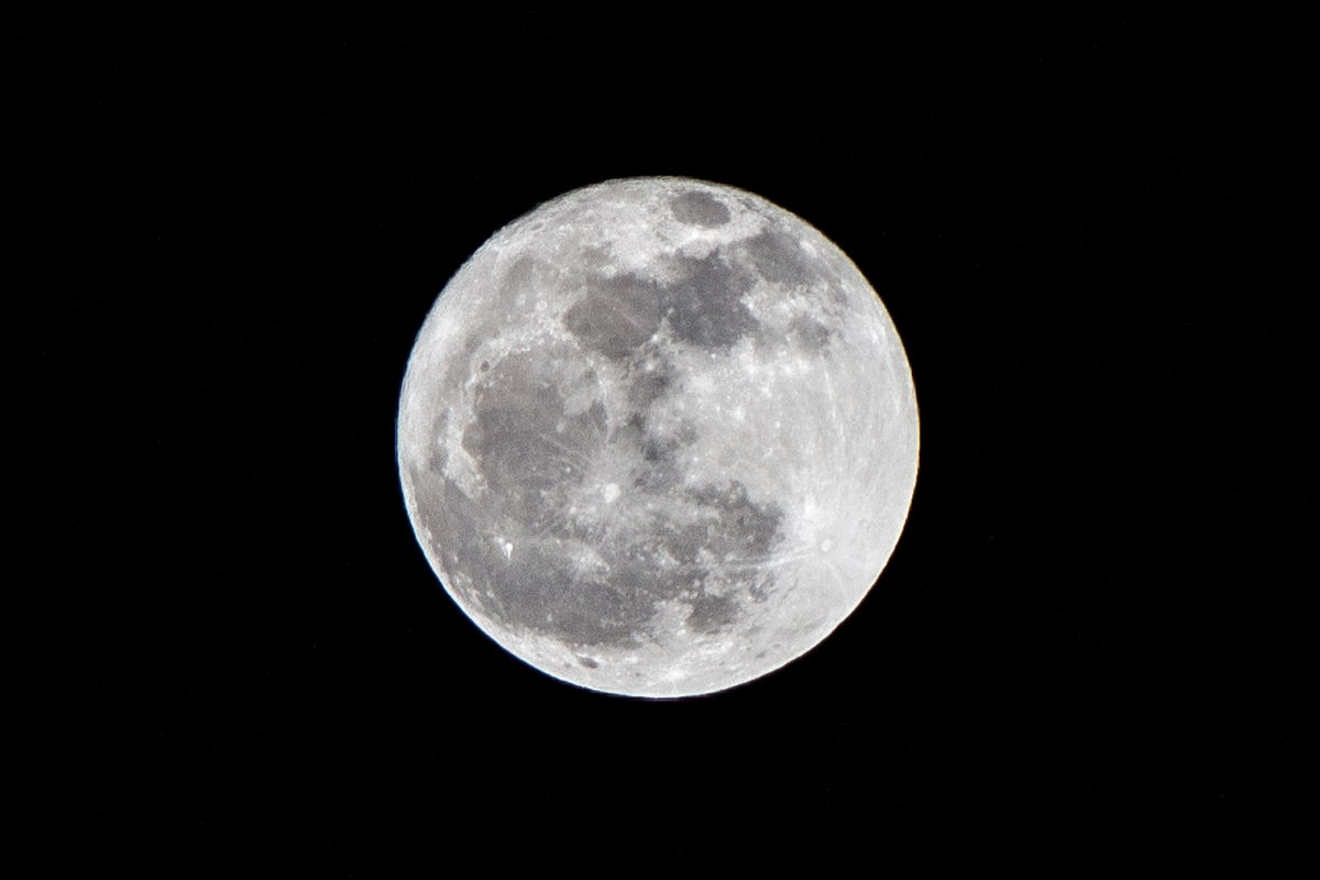 Full Snow Moon Over Herndon, VA