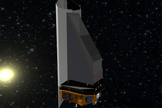 Artist concept of proposed NEOCam space telescope that could survey the regions of space closest to the Earth's orbit, where potentially hazardous asteroids are most likely to be found.
