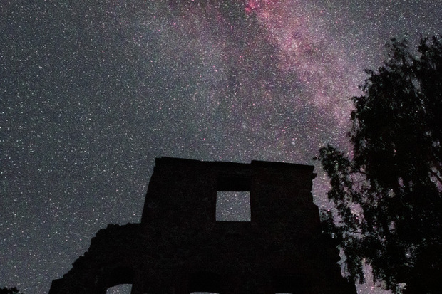 Cygnus and Deneb Over Castle Ruins in Sweden P M Heden