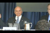 Space tourist Dennis Tito proposed a Mars flyby mission at a press conference on Feb. 27, 2013.