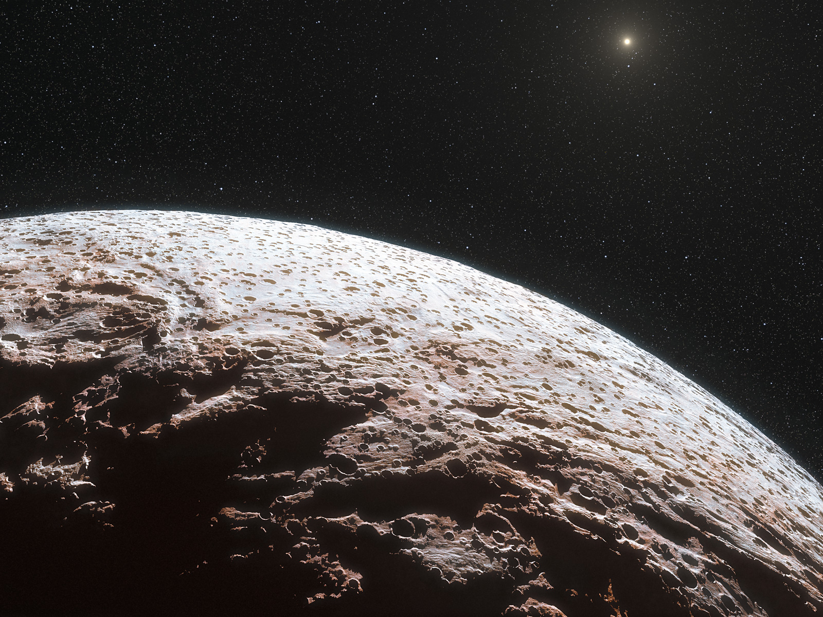 Artist's Impression of Dwarf Planet Makemake 1600