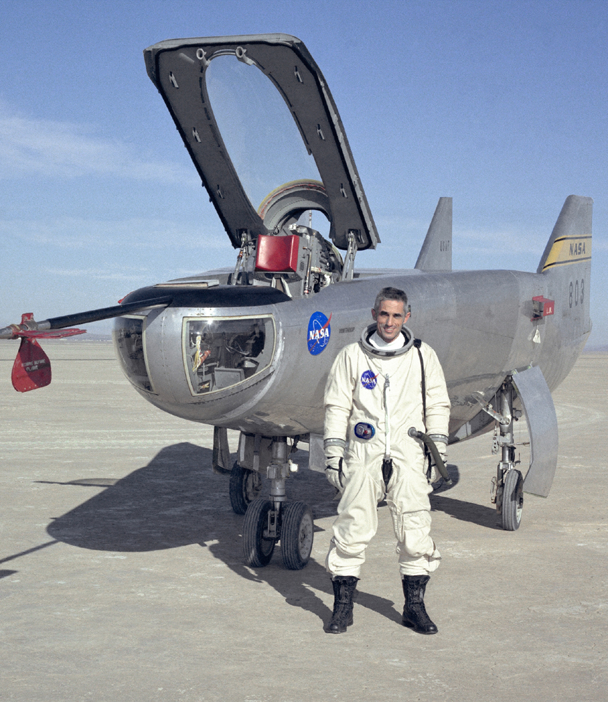 Space History Photo: Test Pilot John A. Manke and M2-F3 Lifting Body