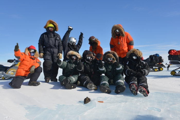 SAMBA Meteorite Team Celebrates Find