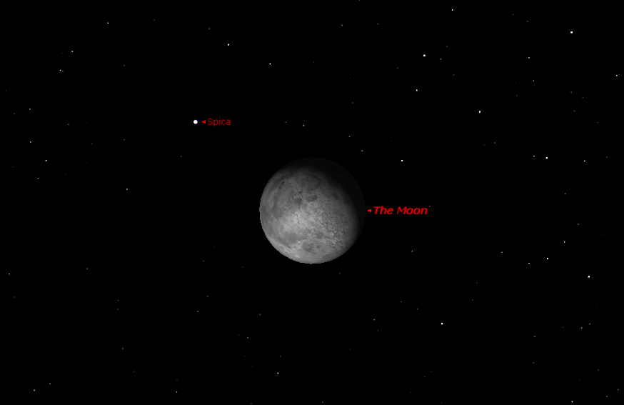 Stargazer's Delight: Moon Gets Close to Bright Star Tonight