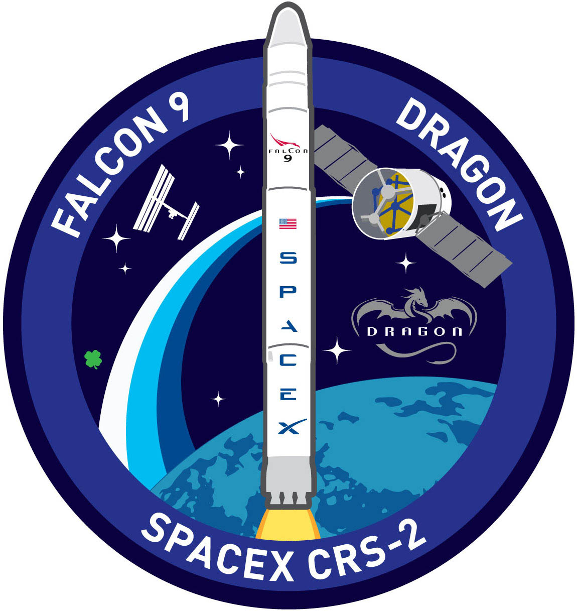 SpaceX's CRS-2 Mission Patch