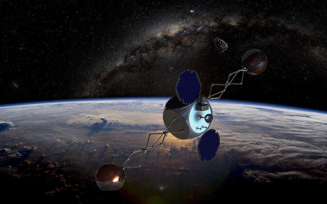 A Space Debris Slingshot