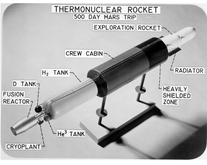 Space History Photo: Model of Thermonuclear Rocket Vehicle for Exploration