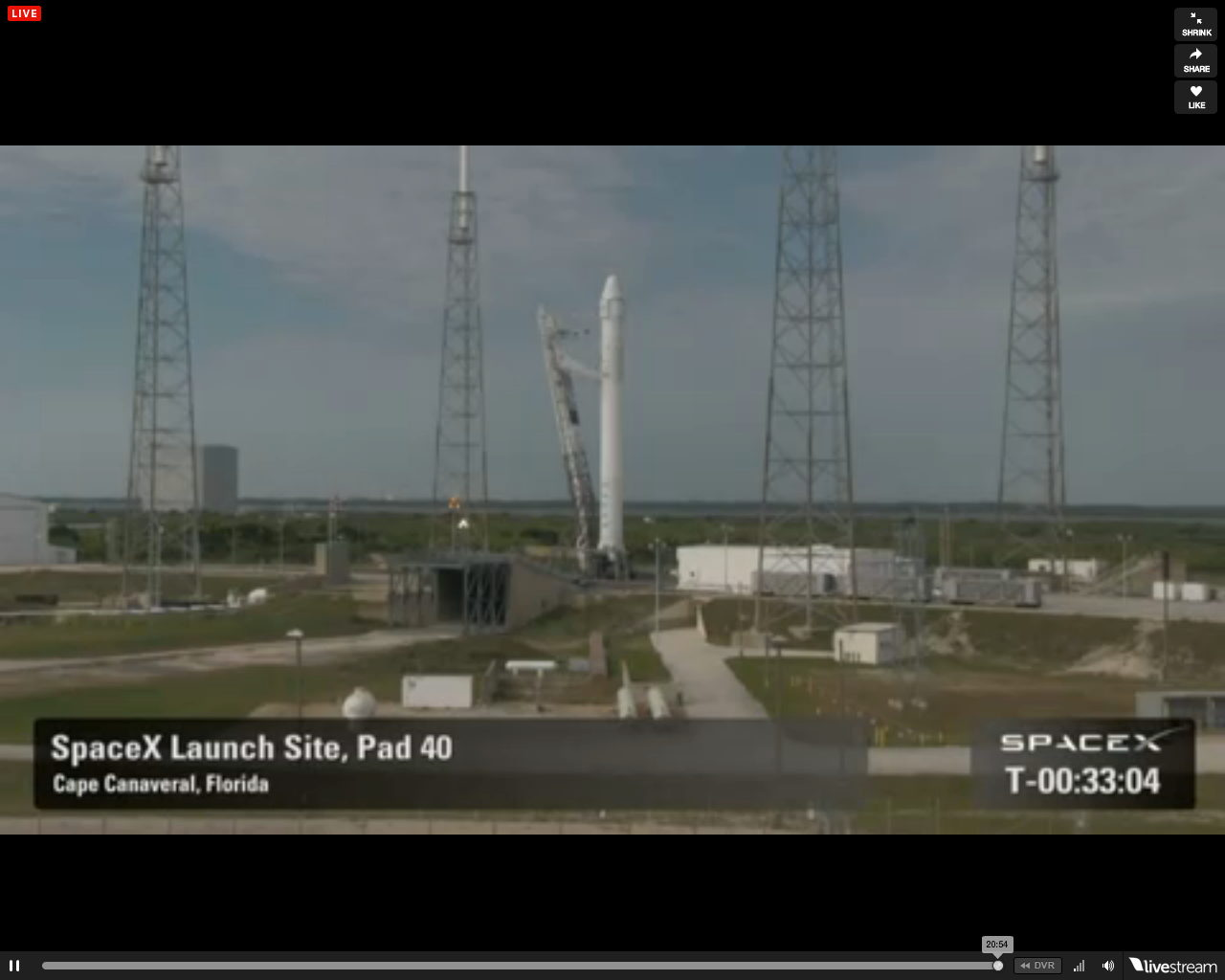SpaceX's Falcon 9 on Launch Pad
