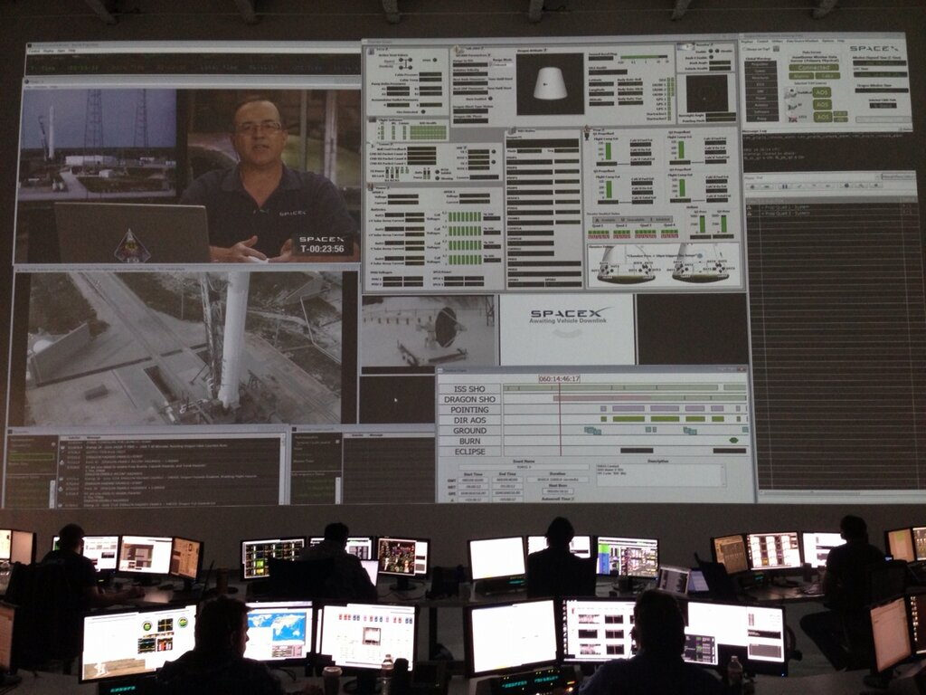 SpaceX Mission Control Prior to Falcon 9 Launch