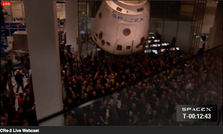 SpaceX Employees Gather to Watch Falcon 9 Launch