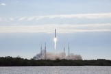 A SpaceX Falcon 9 rocket soars toward space from Cape Canaveral Air Force Station in Florida on March 1, 2013 at 10:10 a.m. EST, carrying a Dragon capsule filled with cargo for the International Space Station.