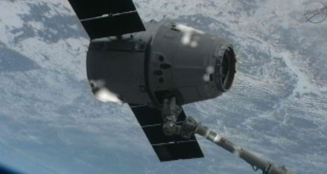 Dragon Under Space Station's Shadow: CRS-2