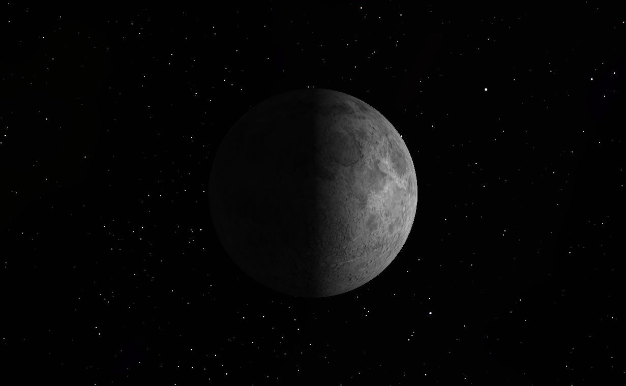 First Quarter Moon, March 19, 2013