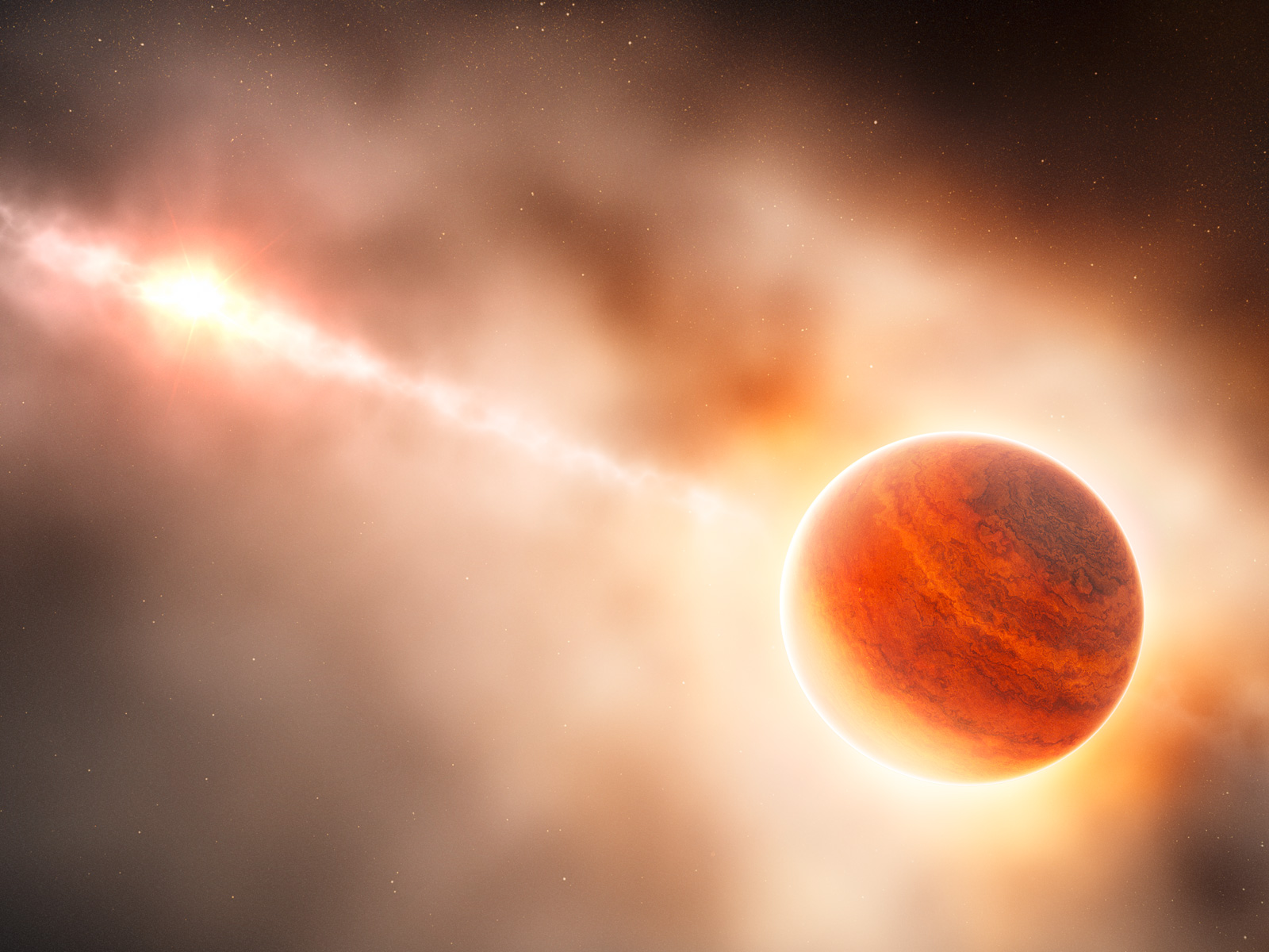 Artist's Impression of Gas Giant Planet Forming Around Young Star 1600