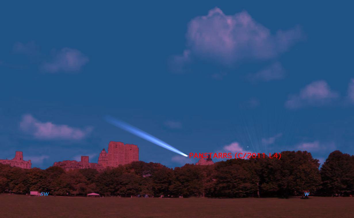 Comet C/2011 L4  (PANSTARRS) Enters Northern Sky