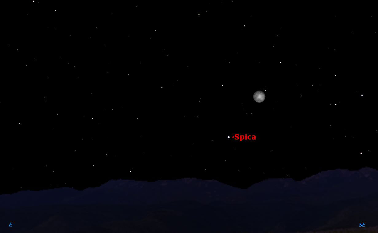 Spica and the Moon Again, March 27, 2013.